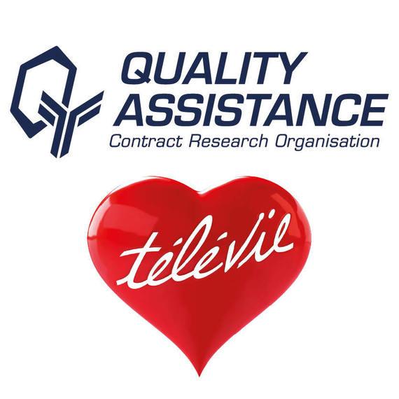 L'équipe de Quality Assistance soutient le Télévie