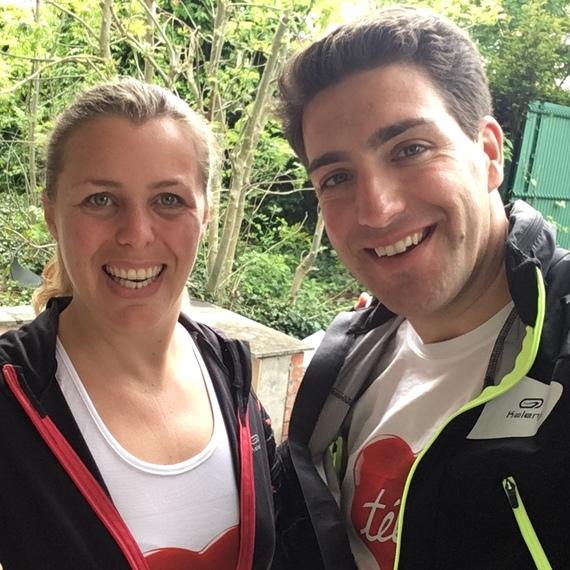 Anne et Olivier ensemble aux 20 km pour le Télévie